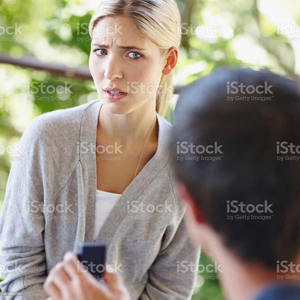 I'll have to think about it stock photo