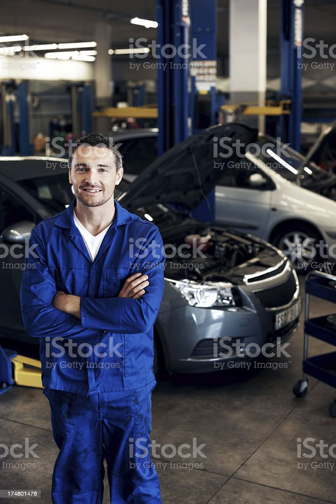 I'll have your car done ASAP! royalty-free stock photo