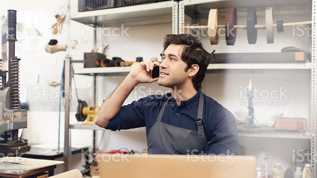 I'll have your order ready by next week stock photo