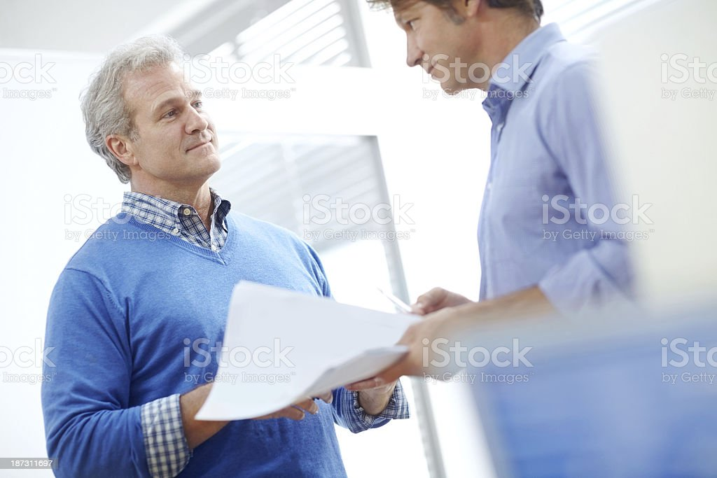 I'll look over these reports royalty-free stock photo
