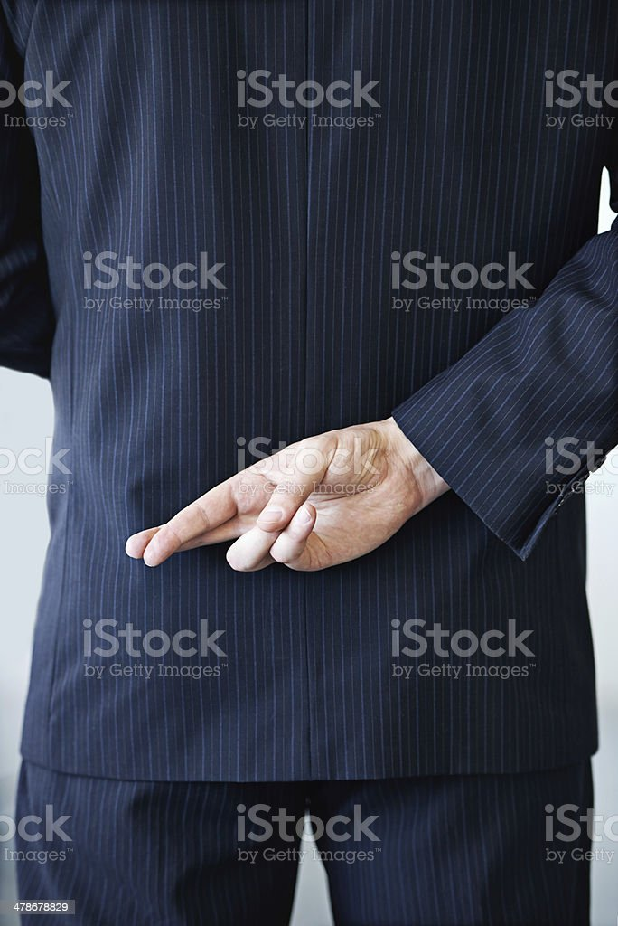 I'll never tell the truth... stock photo
