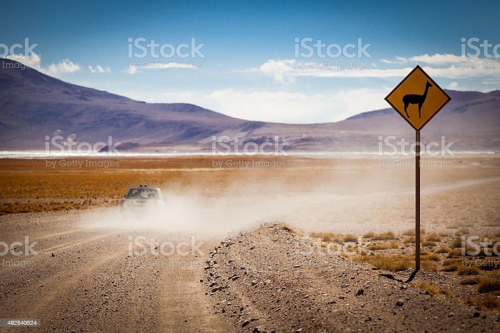 Llama Sign stock photo