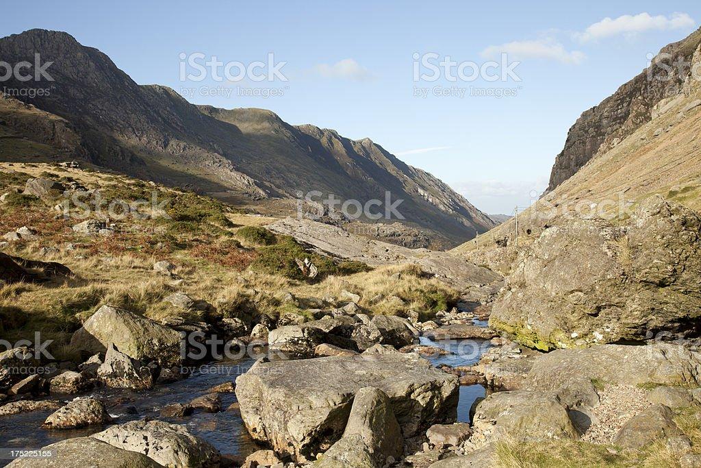 Llanberis Pass, North Wales royalty-free stock photo