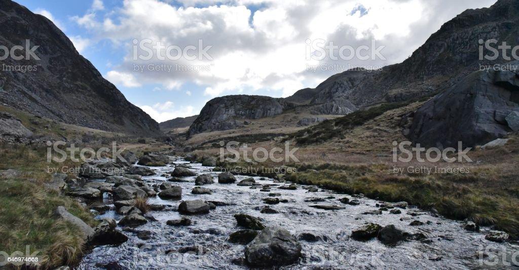 Llanberis Pass. stock photo