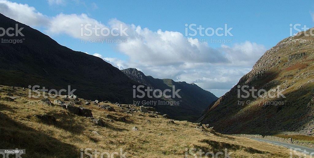 Llanberis Pass, Wales, UK 001 stock photo