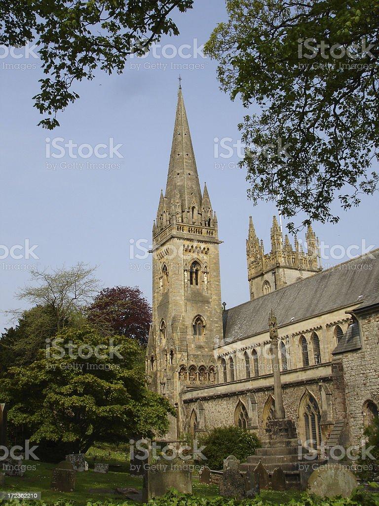 Llandaff Cathedral exterior stock photo