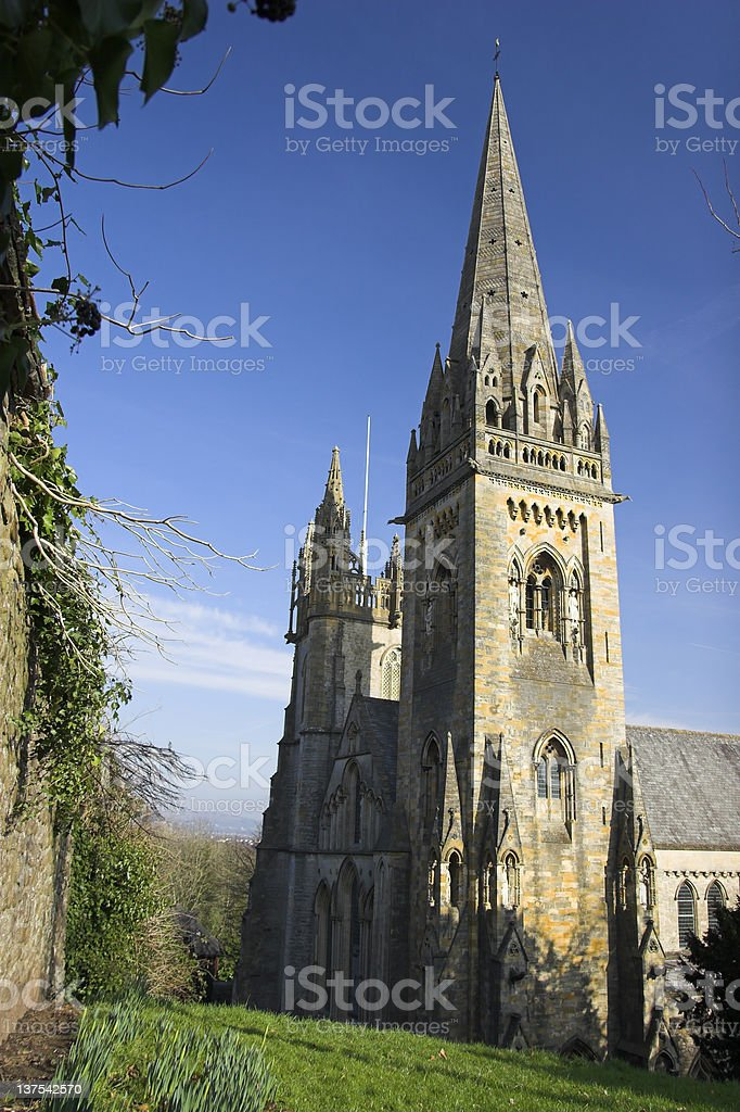 Llandaff Cathedral royalty-free stock photo