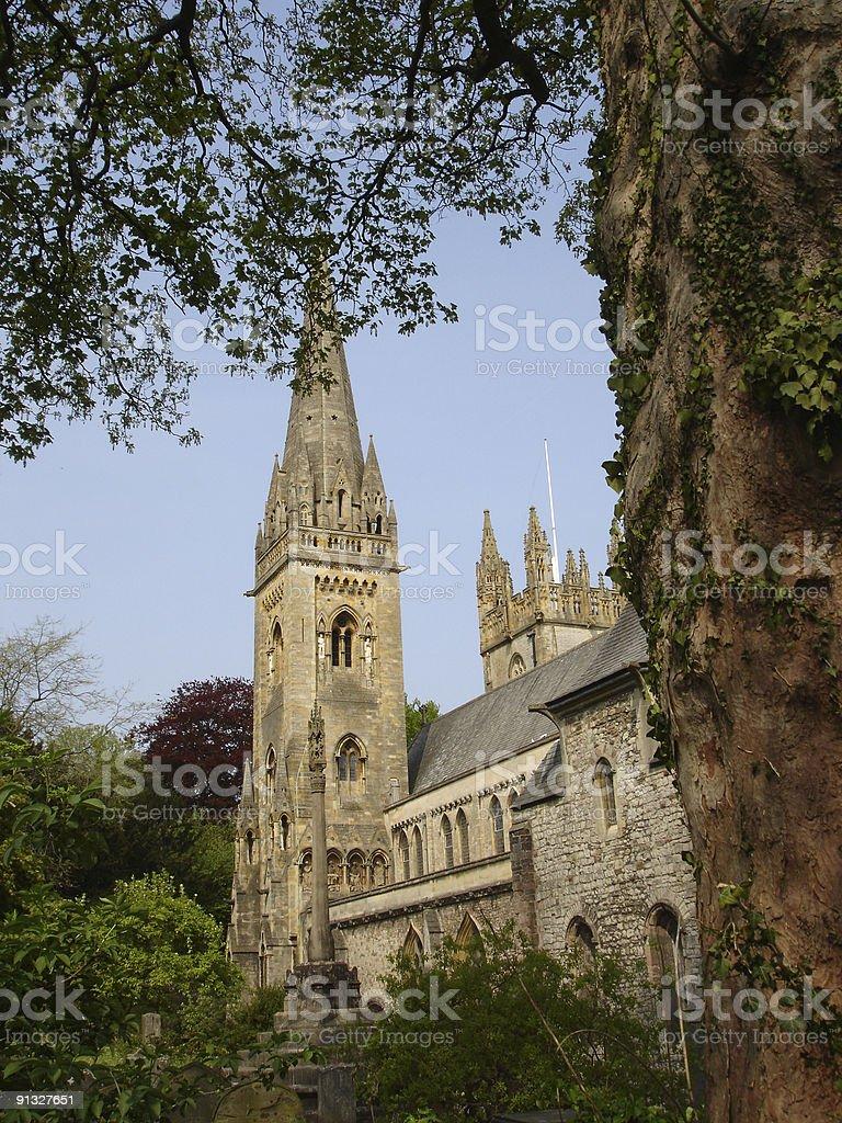 Llandaff Cathedral stock photo
