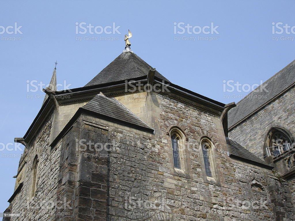 Llandaff Cathedral steeple stock photo