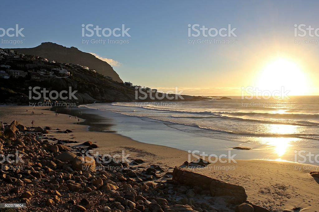Llandudno beach sunset stock photo