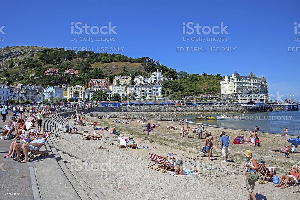 Llandudno, North Wales stock photo