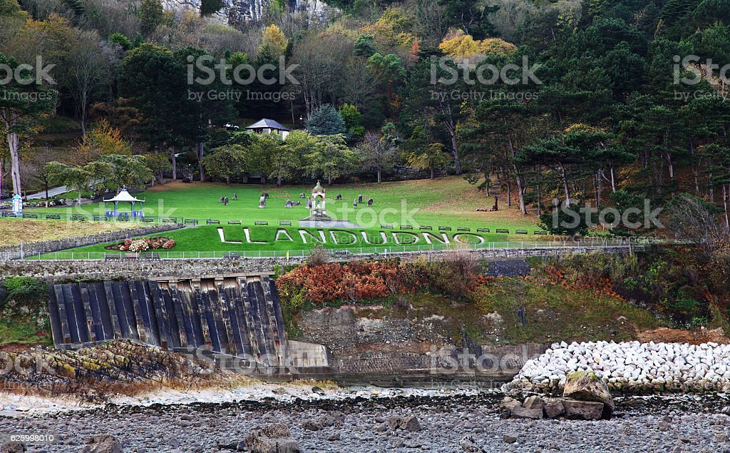 Llandudno Park at the foot of the Great Orme stock photo