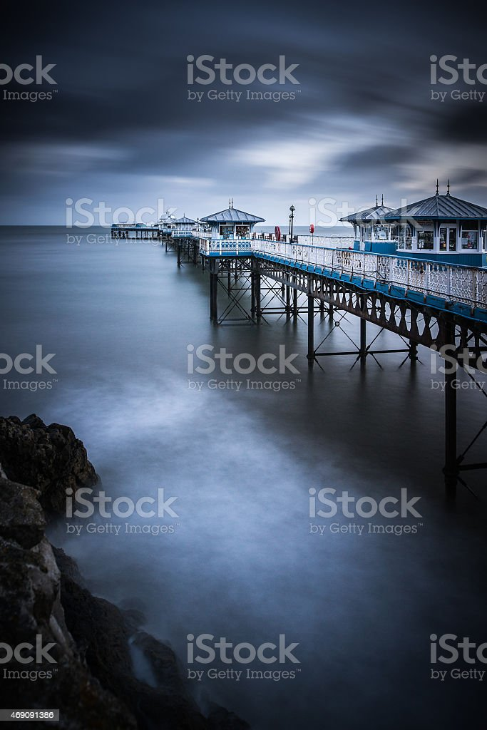 Llandudno Pier, Clwyd, Wales - long exposure stock photo