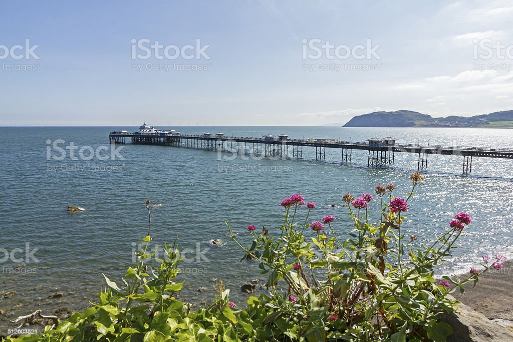 Llandudno Pier North Wales stock photo