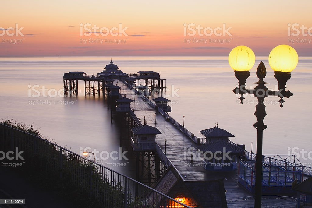 Llandudno Pier stock photo