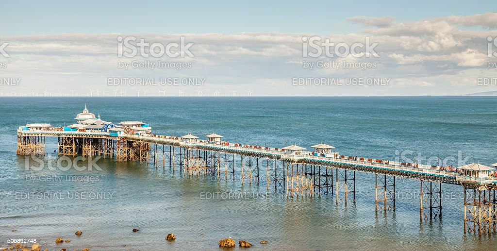 Llandudno Pier. stock photo