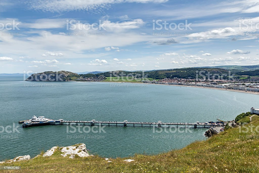 Llandudno Promenade North Wales stock photo