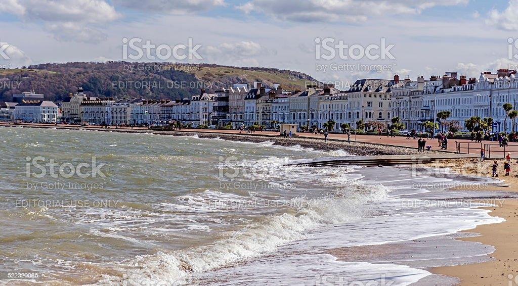 Llandudno Promenade North Wales stock photo