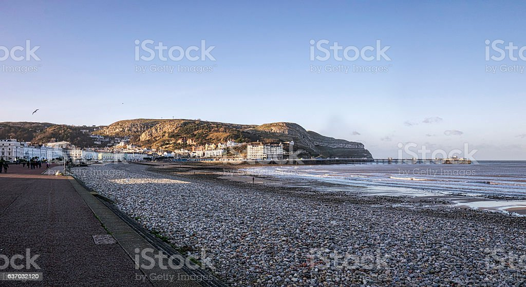 llandudno Promenade, North Wales stock photo