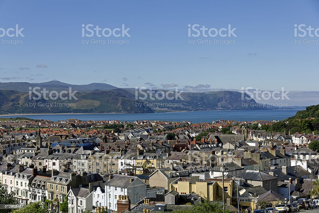 Llandudno Town Center North Wales stock photo