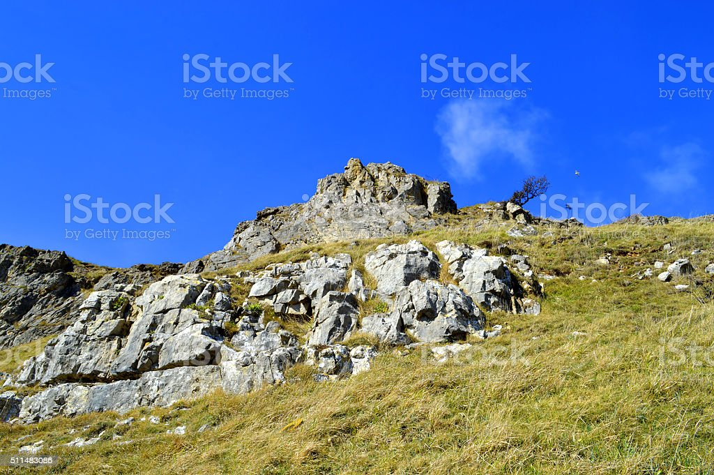 Llandudno west shore view of Great Orme stock photo