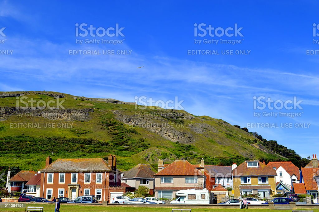 Llandudno West shore with a view of Great Orme stock photo