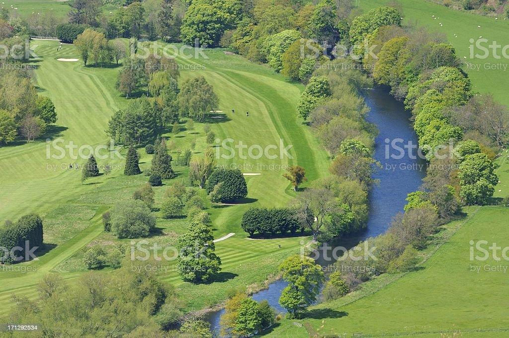 Llangollen Golf Course royalty-free stock photo