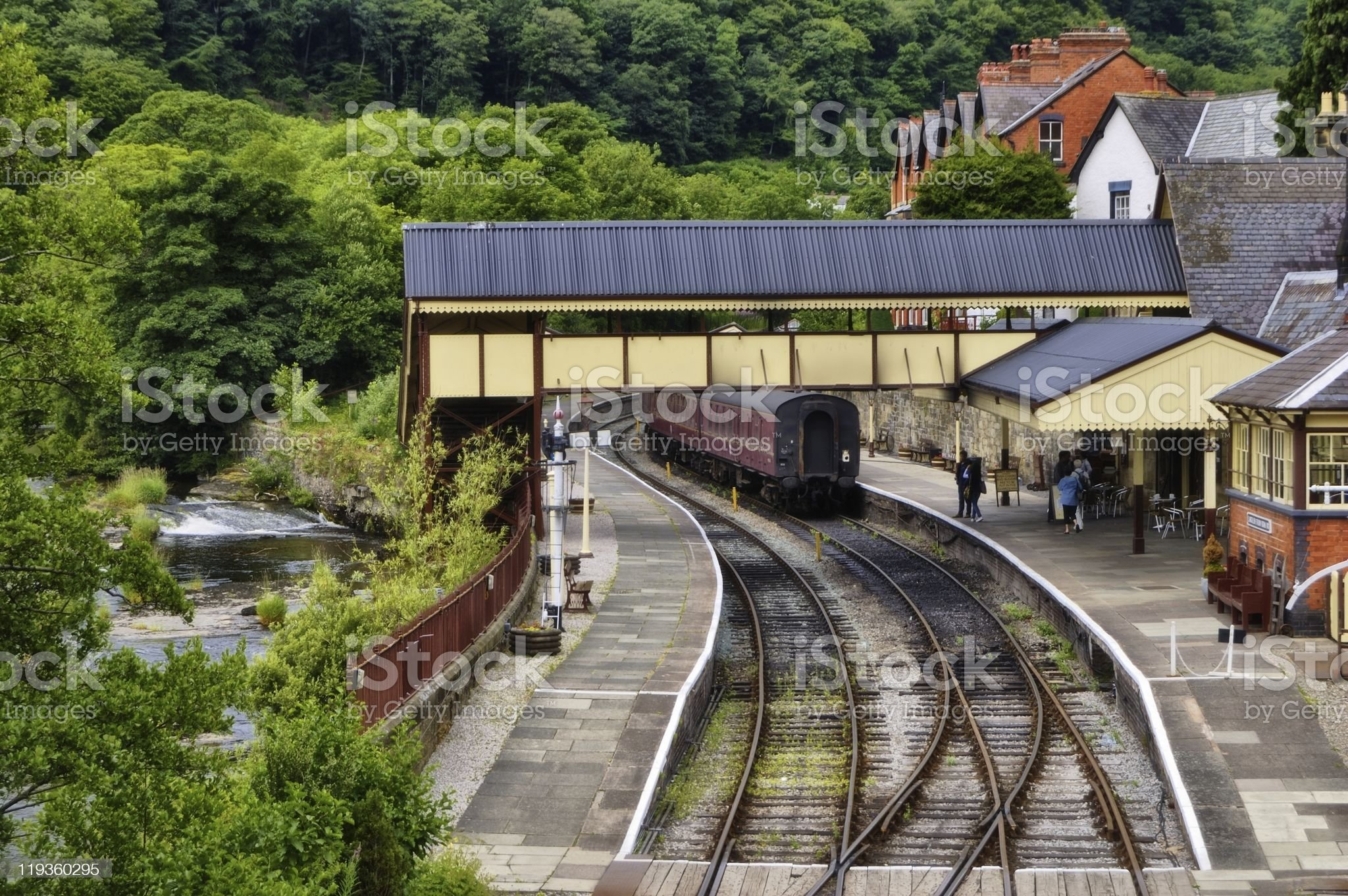 Llangollen Railway Staion royalty-free stock photo