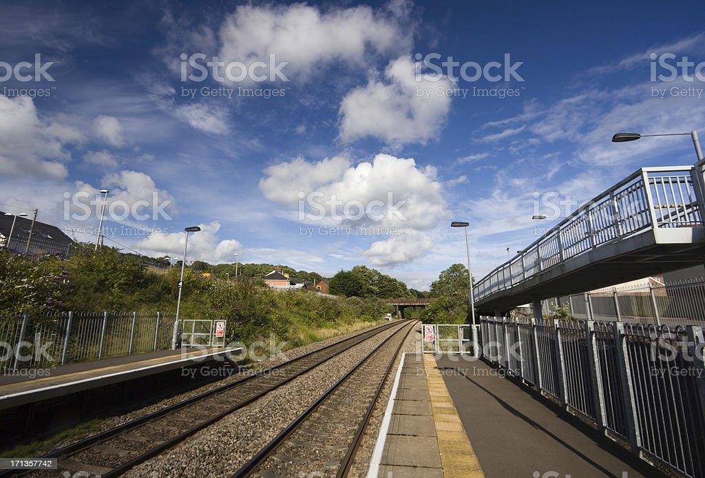 Llanharan Train Station in Glamorgan, Wales stock photo