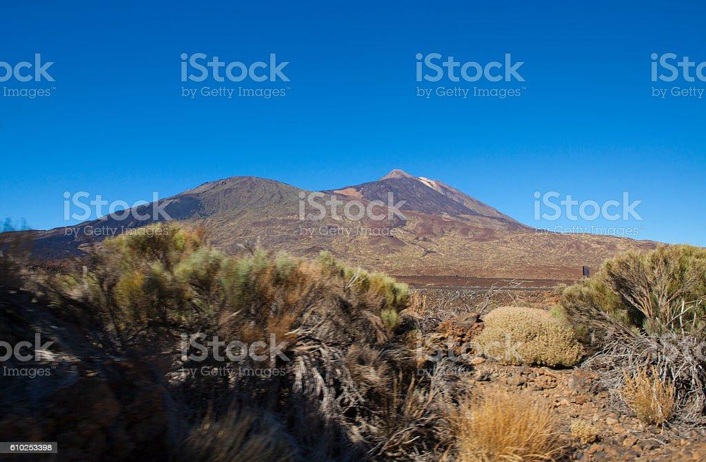 Llano de Ucanca - Teide's National Park stock photo