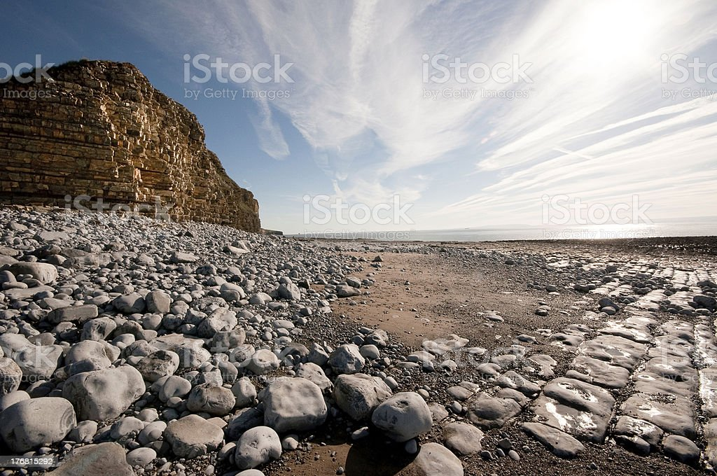 Llantwit Major, South Wales, landscape view royalty-free stock photo