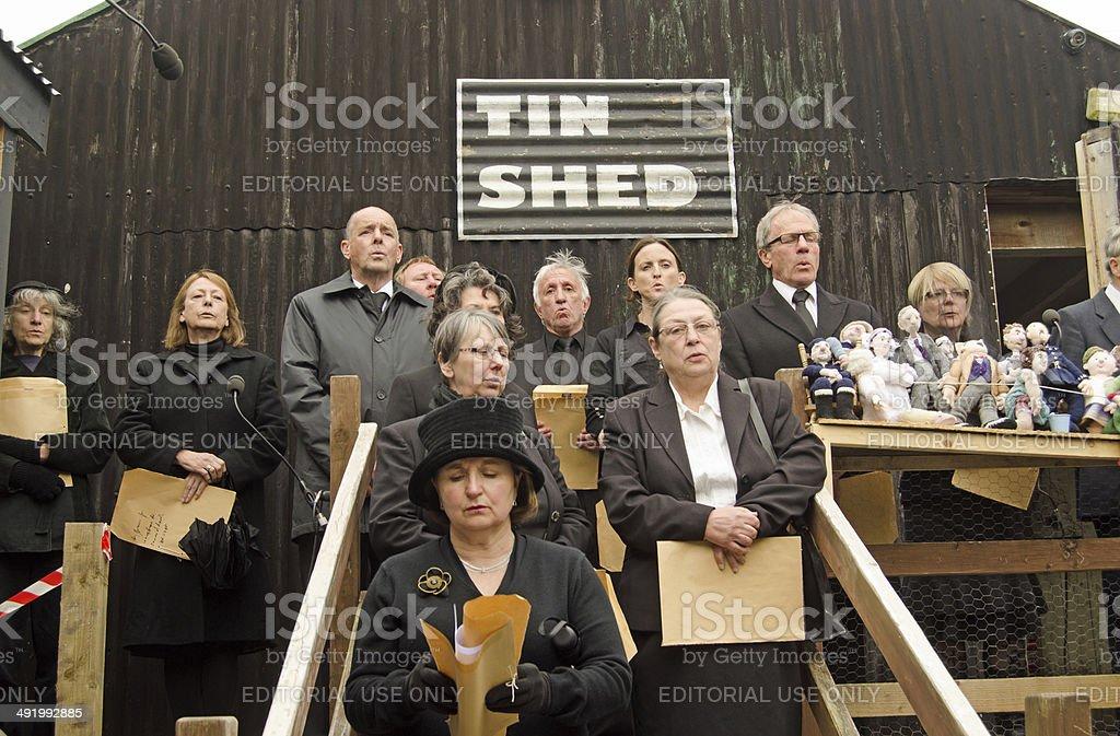 Llareggub finale, choir royalty-free stock photo