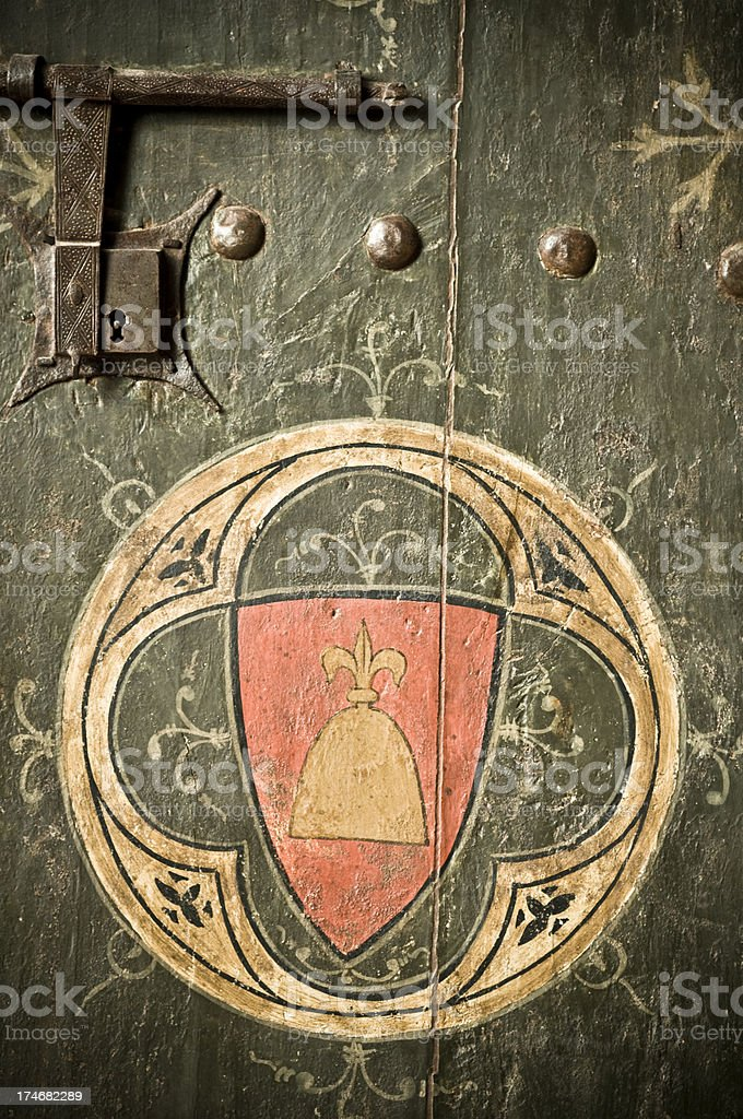 Lleida Cathedral Gates royalty-free stock photo