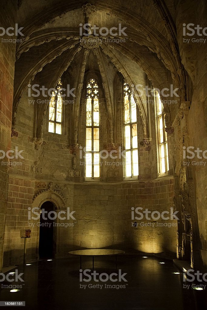 Lleida Cathedral stock photo