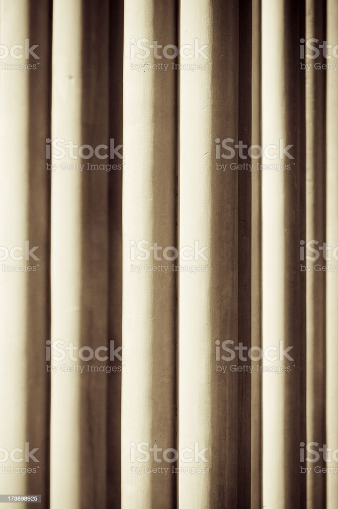 Lleida Cloister Columns stock photo