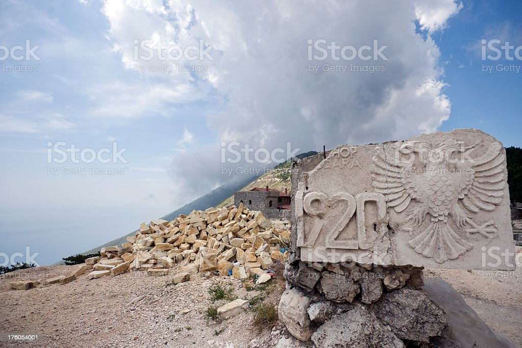 Llogara Pass in Southern Albania stock photo