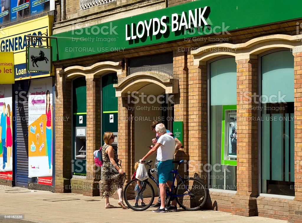 Lloyds Bank branch in Lowestoft stock photo