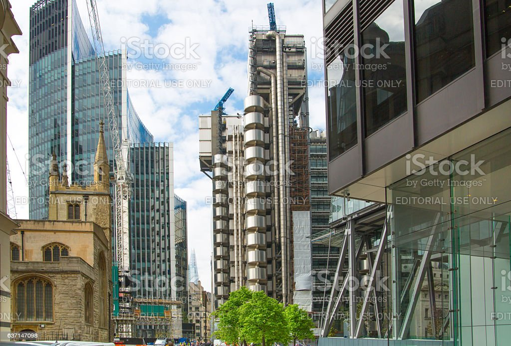 Lloyds bank building view, London stock photo