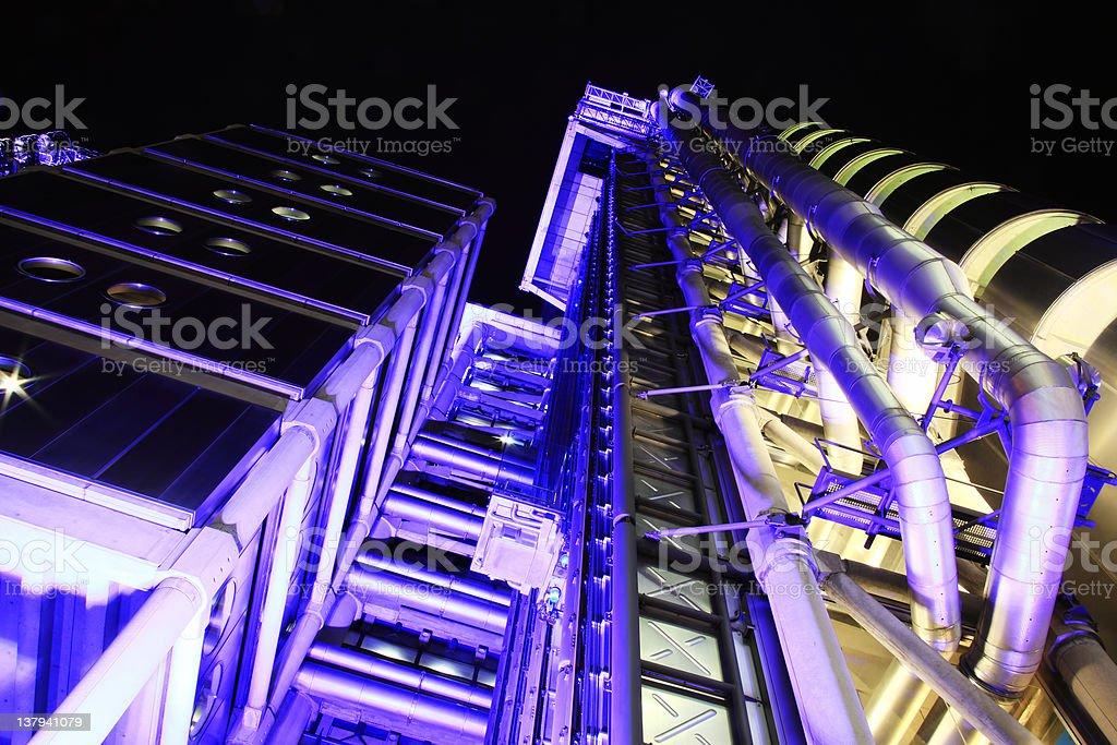 Lloyd's Building At Night royalty-free stock photo