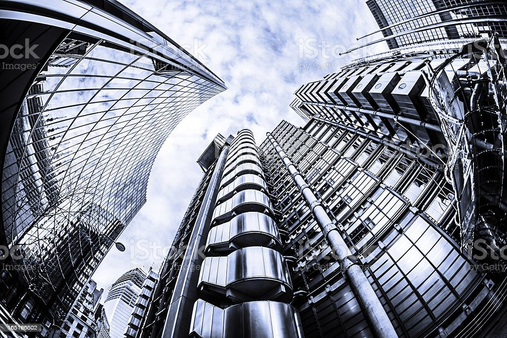 Lloyd's building in City of London stock photo