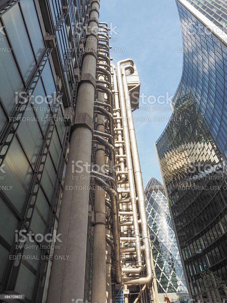 Lloyds building in London stock photo