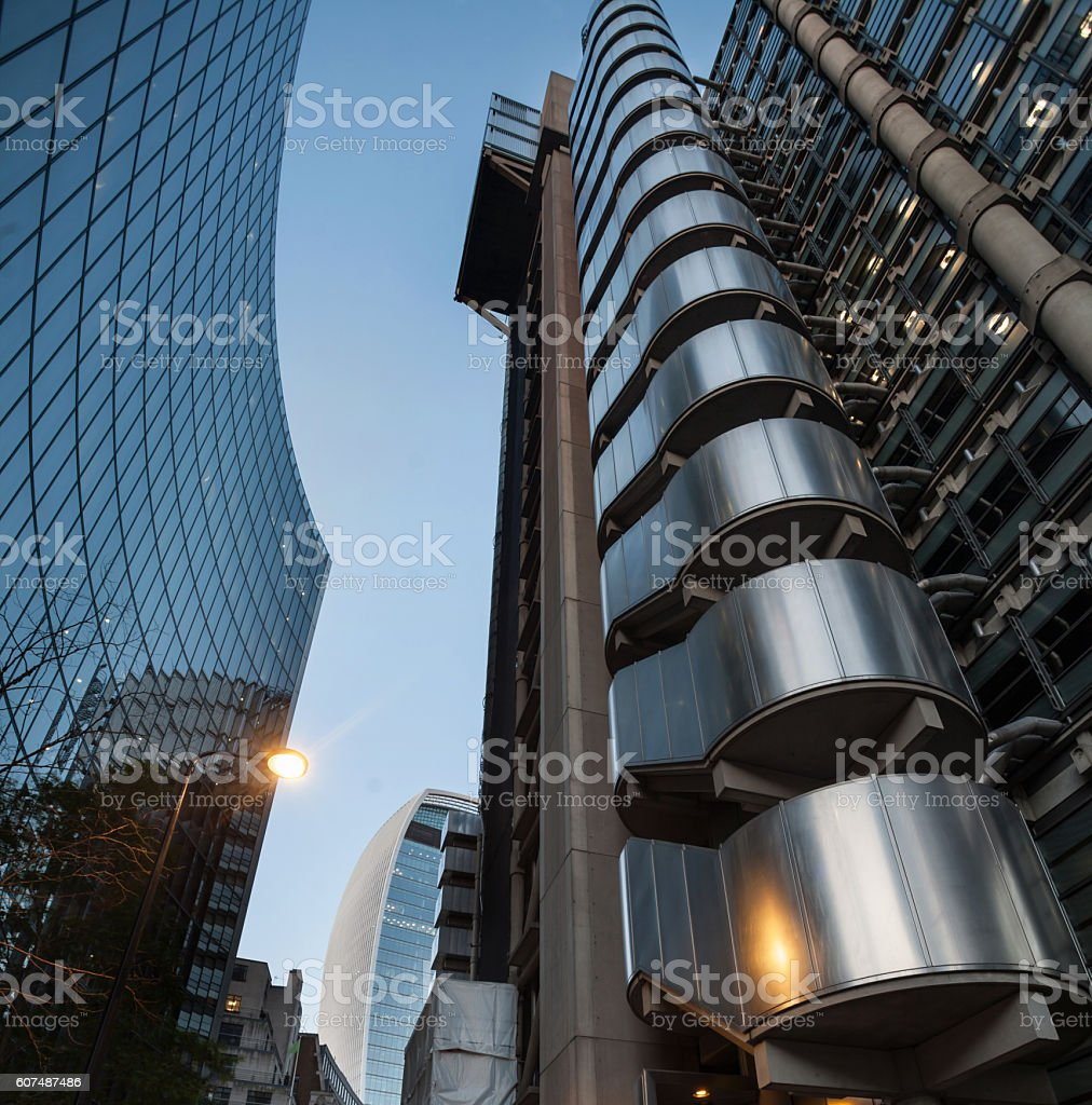 Lloyd's Building London. stock photo