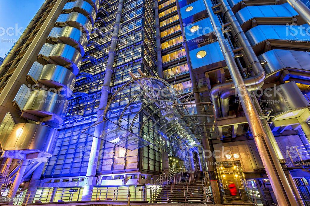 Lloyds of London at twilight stock photo