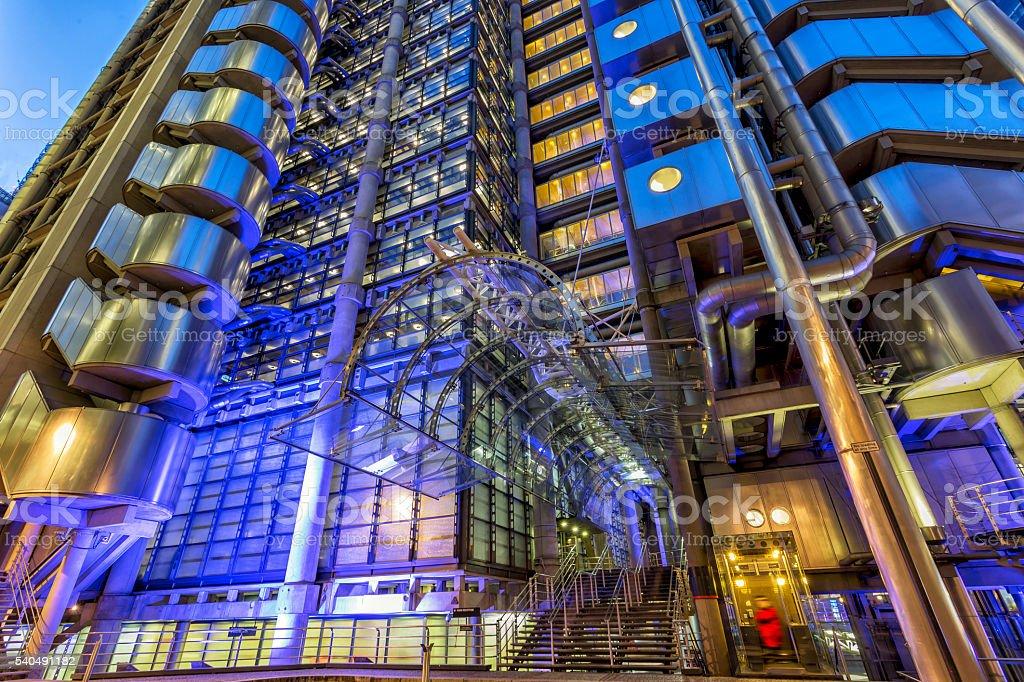 Lloyds of London at twilight stock photo