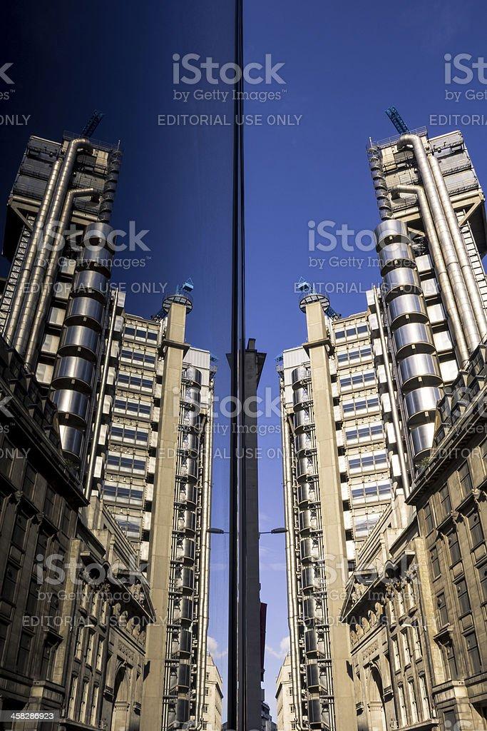 Lloyds of London reflection royalty-free stock photo