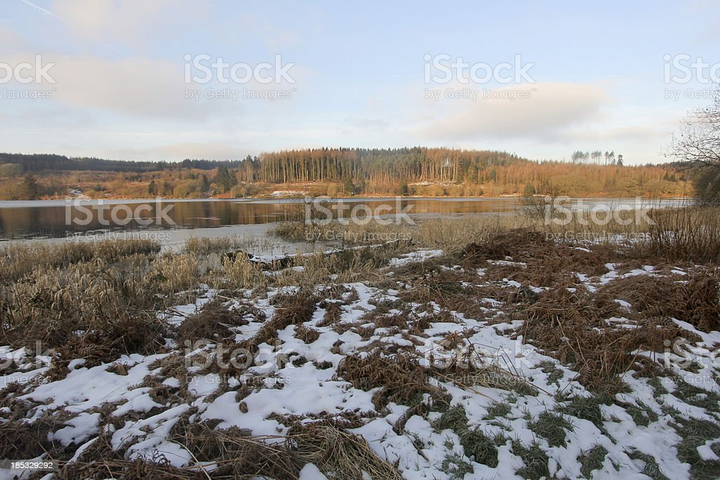 Llwyn-Onn Reservoir in Brecon Beacons, Wales royalty-free stock photo