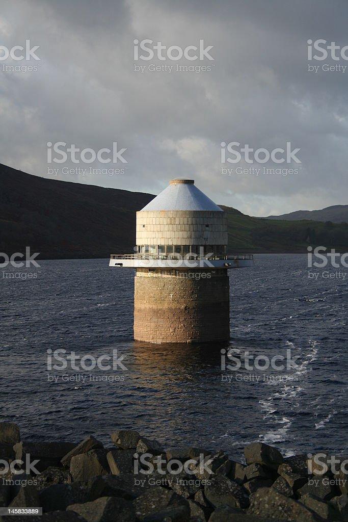 Llyn Celyn Tower stock photo