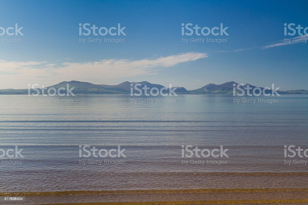 Llyn Peninsula skyline stock photo
