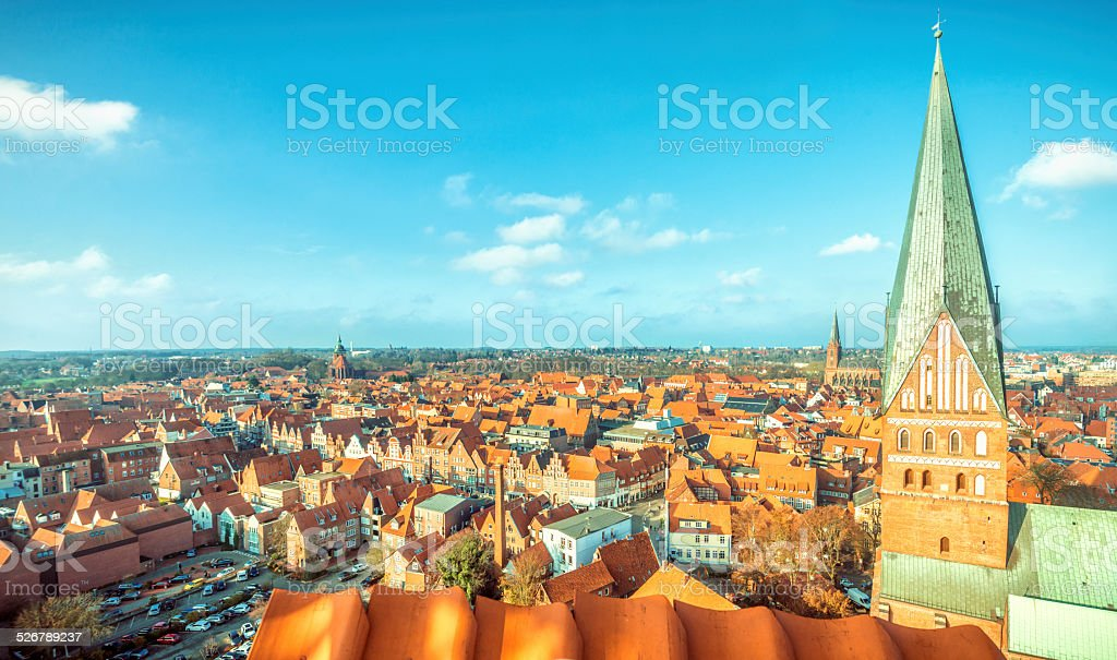 Lüneburg (Luneberg) cityscape stock photo