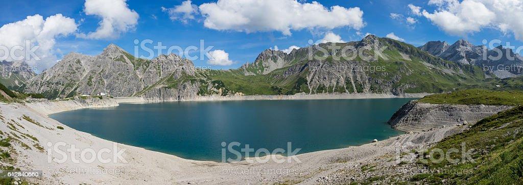 Lüner Lake in the Austrian Alps stock photo